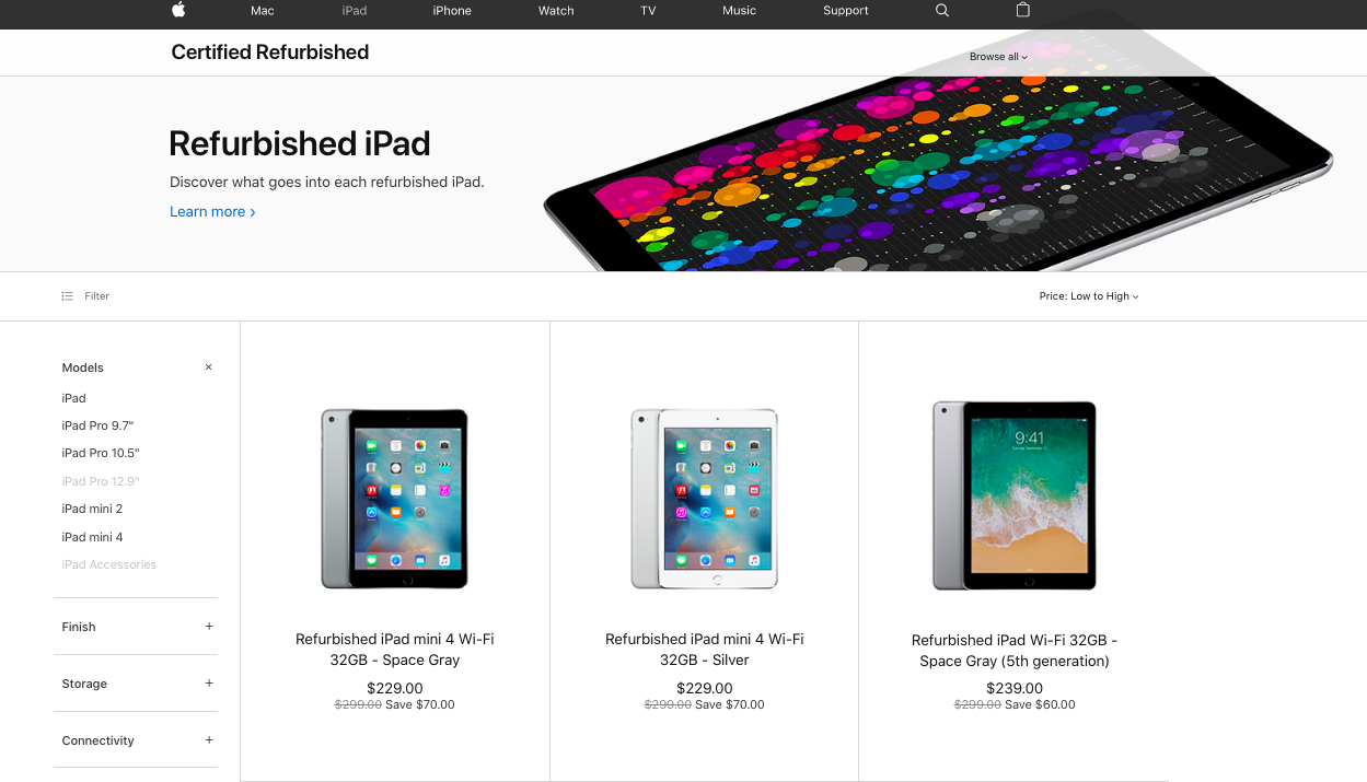 Apple where to buy refurbished iPad guide