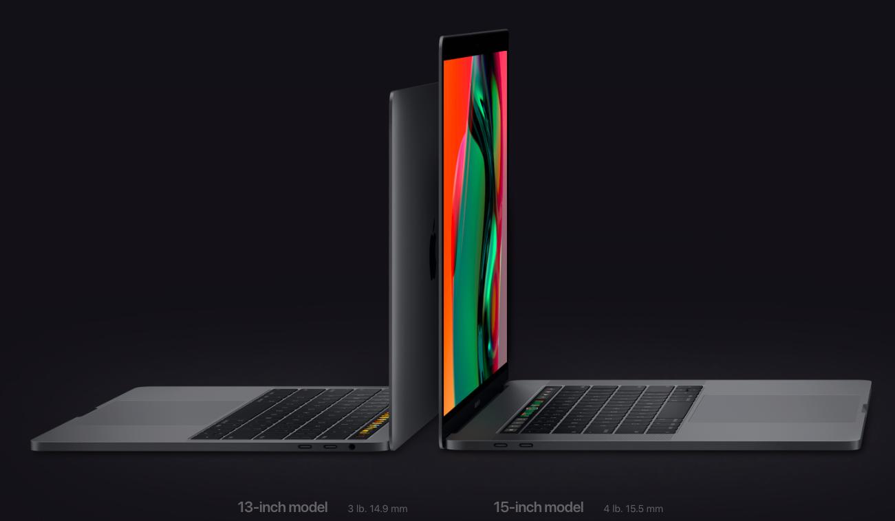 New MacBook Pro size comparison