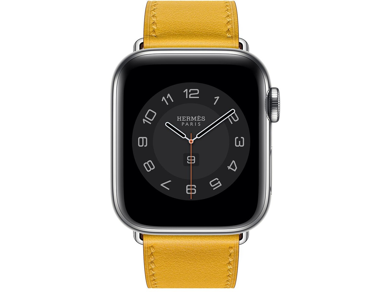 apple watch hermes series 6 cellular 40mm silver stainless jaune ambre double tour