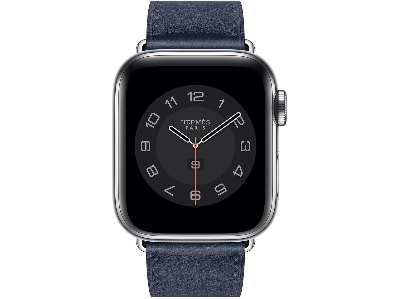 apple watch hermes series 6 cellular 40mm silver stainless navy double tour
