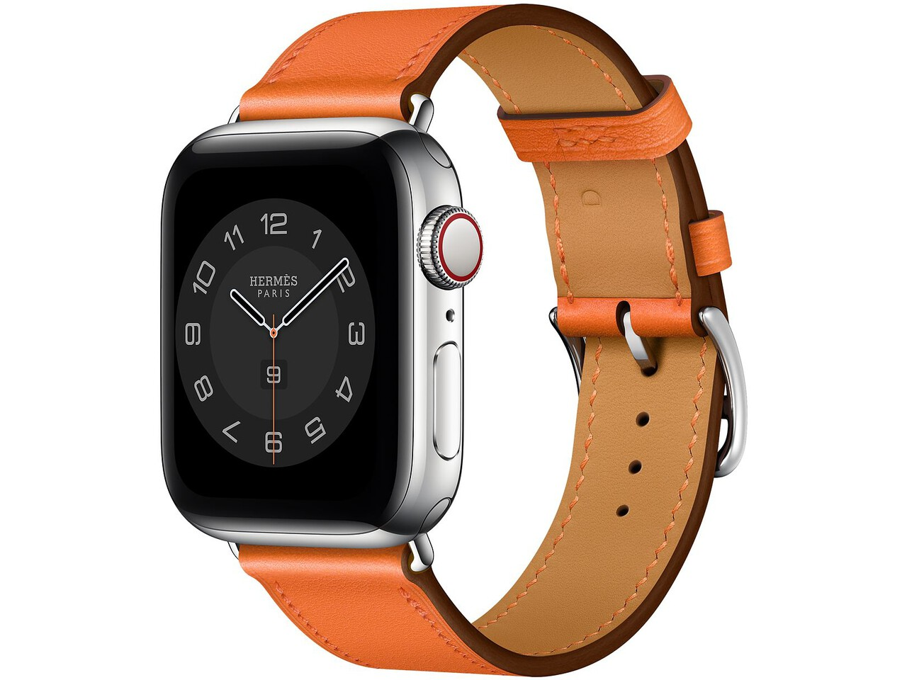 apple watch hermes series 6 cellular 40mm silver stainless orange double tour