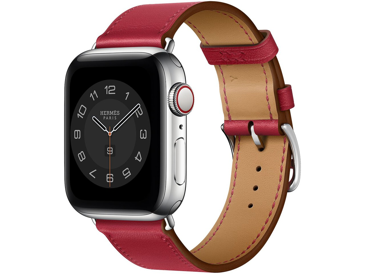 apple watch hermes series 6 cellular 40mm silver stainless rouge piment double tour