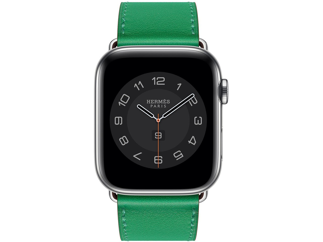 apple watch hermes series 6 cellular 44mm silver stainless bambou double tour