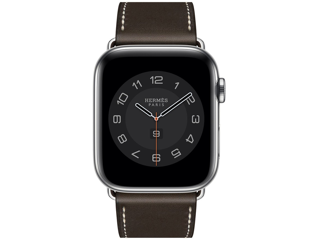 apple watch hermes series 6 cellular 44mm silver stainless ebene double tour