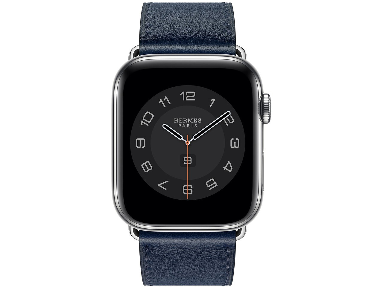 apple watch hermes series 6 cellular 44mm silver stainless navy double tour