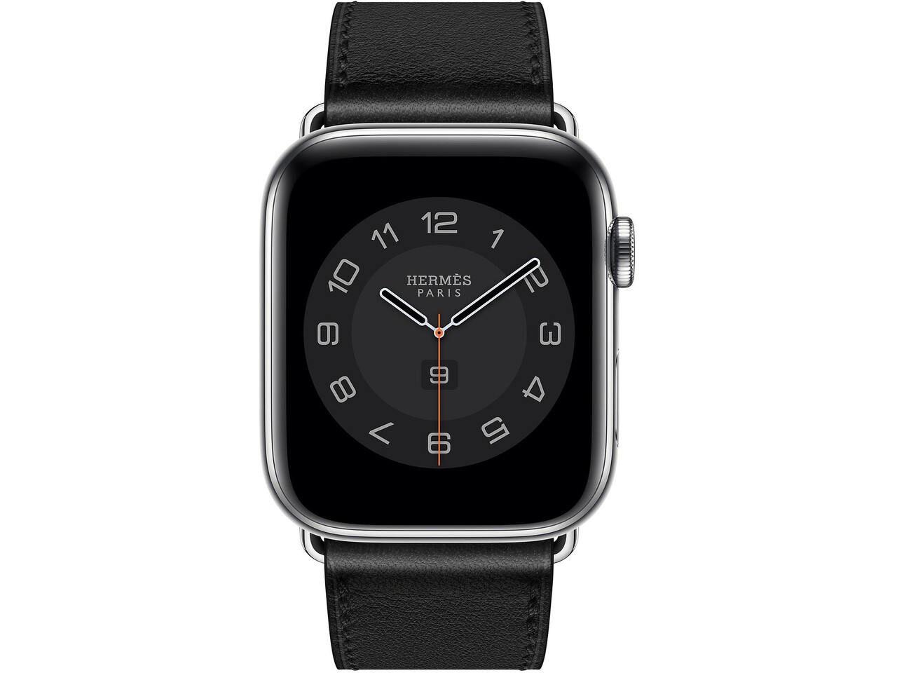 apple watch hermes series 6 cellular 44mm silver stainless noir double tour