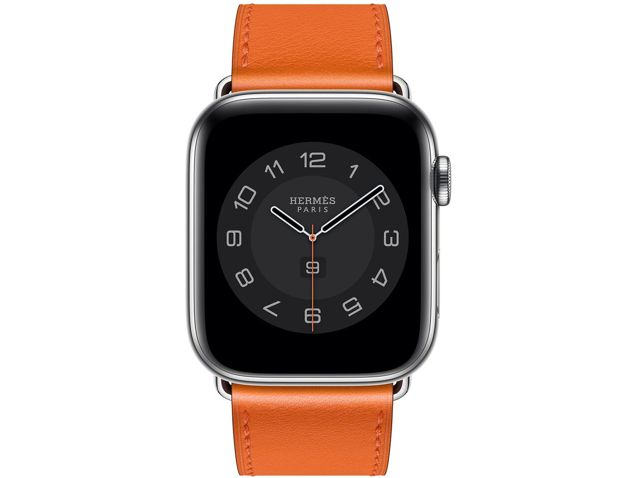apple watch hermes series 6 cellular 44mm silver stainless orange double tour
