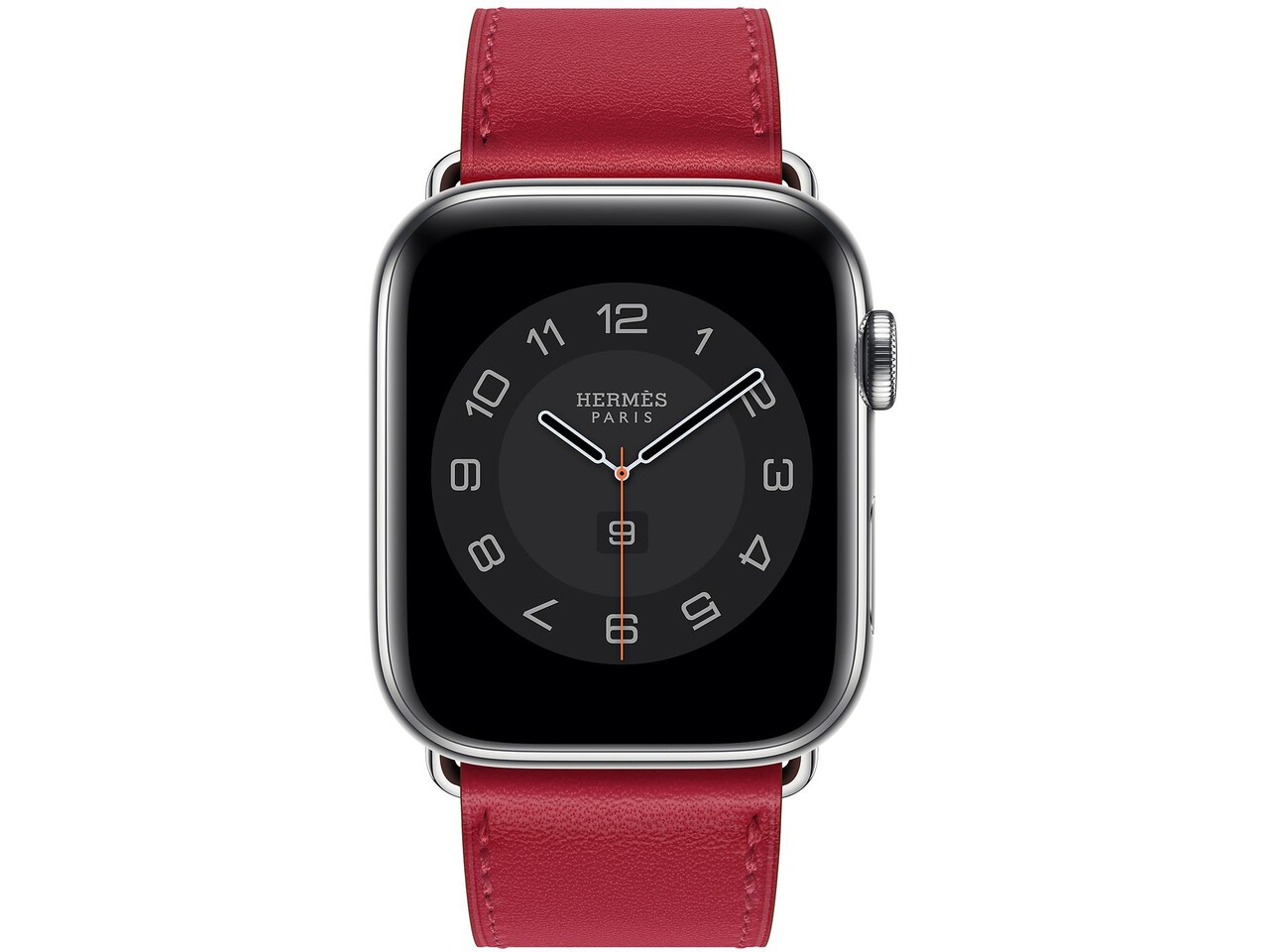 apple watch hermes series 6 cellular 44mm silver stainless rouge piment double tour