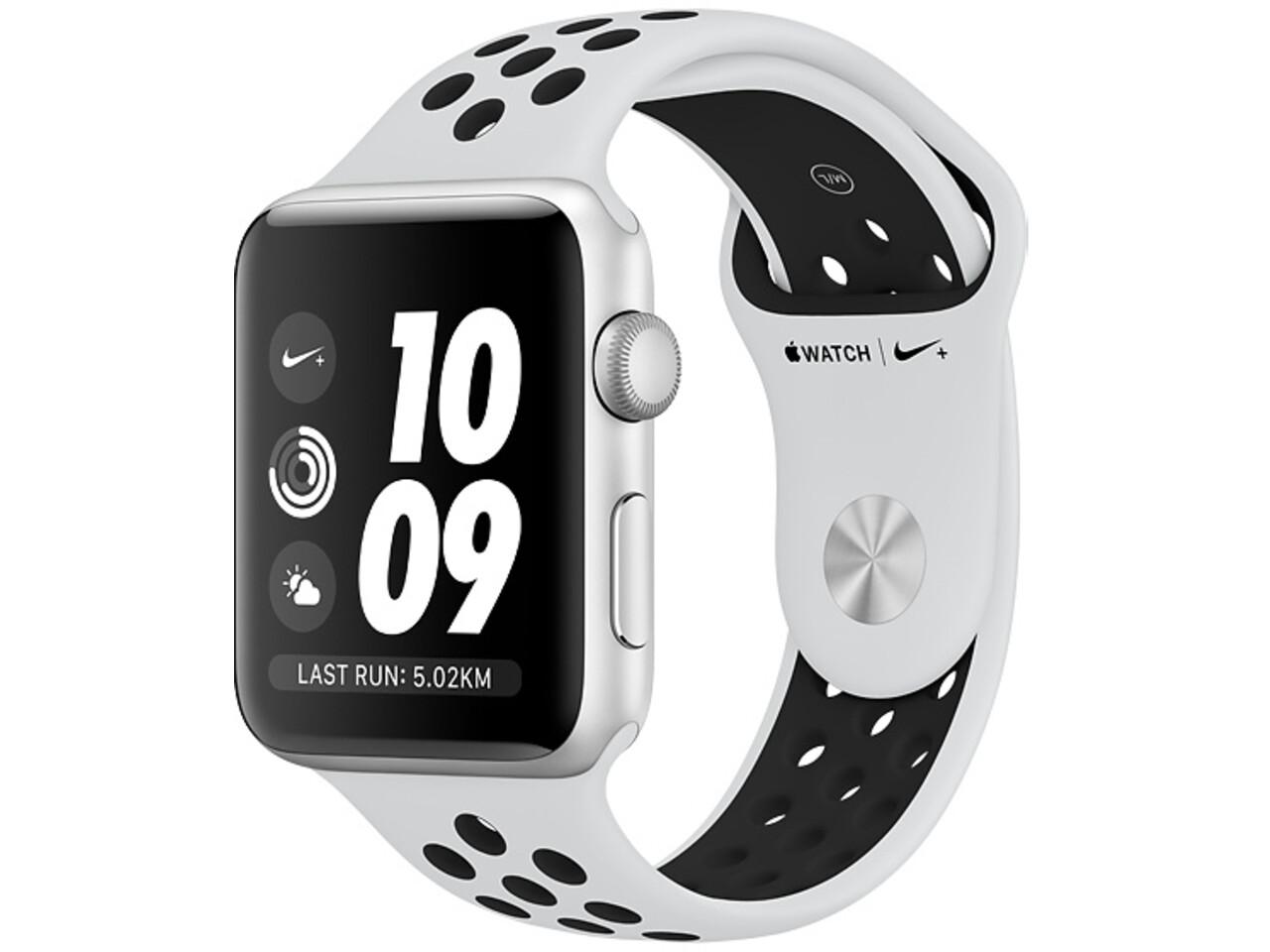 apple watch nike series 3 42mm silver aluminum white nike sport band
