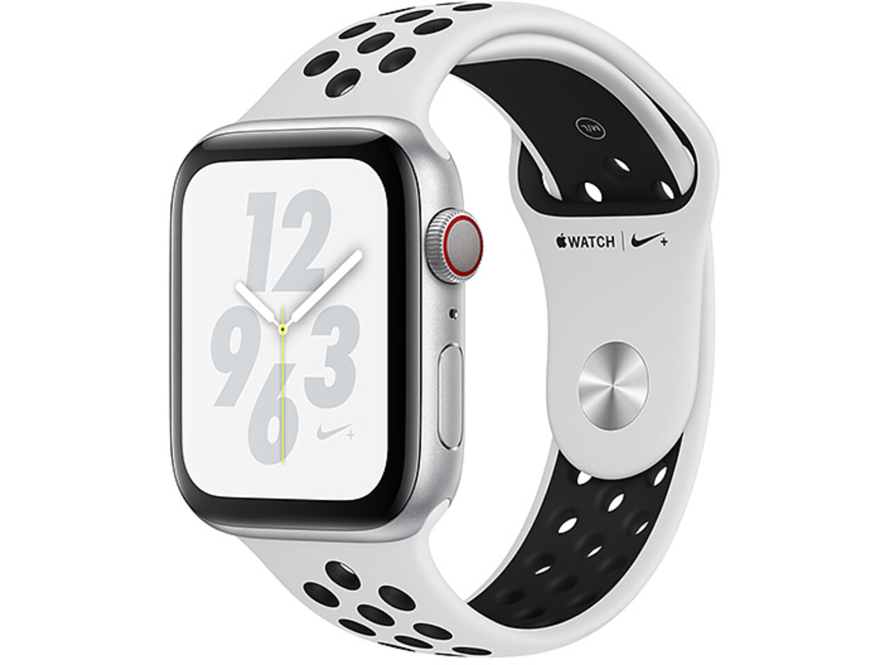 apple watch nike series 4 cellular 40mm silver aluminum pure platinumblack nike sport band