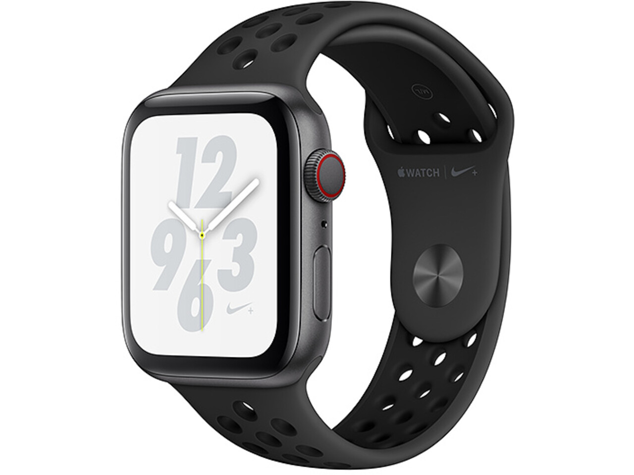 apple watch nike series 4 cellular 44mm space gray aluminum black nike sport band