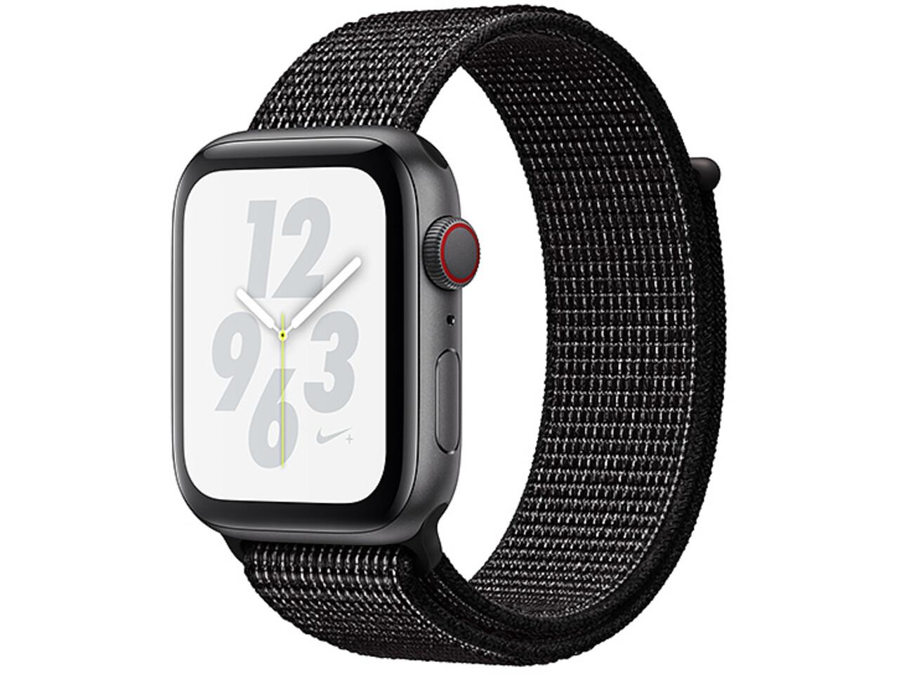 apple watch nike series 4 cellular 44mm space gray aluminum black nike sport loop