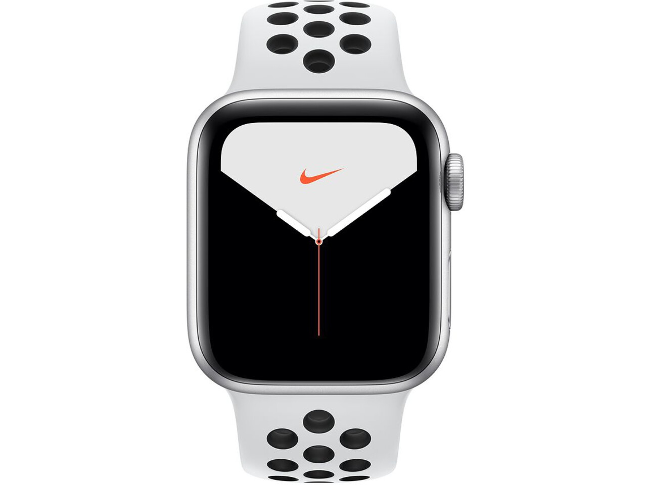 apple watch nike series 5 40mm silver aluminum pure platinumblack nike sport band