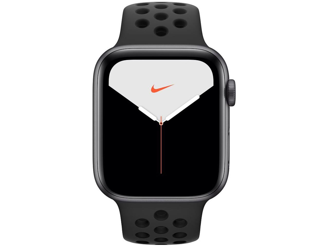 apple watch nike series 5 44mm space gray aluminum anthraciteblack nike sport band