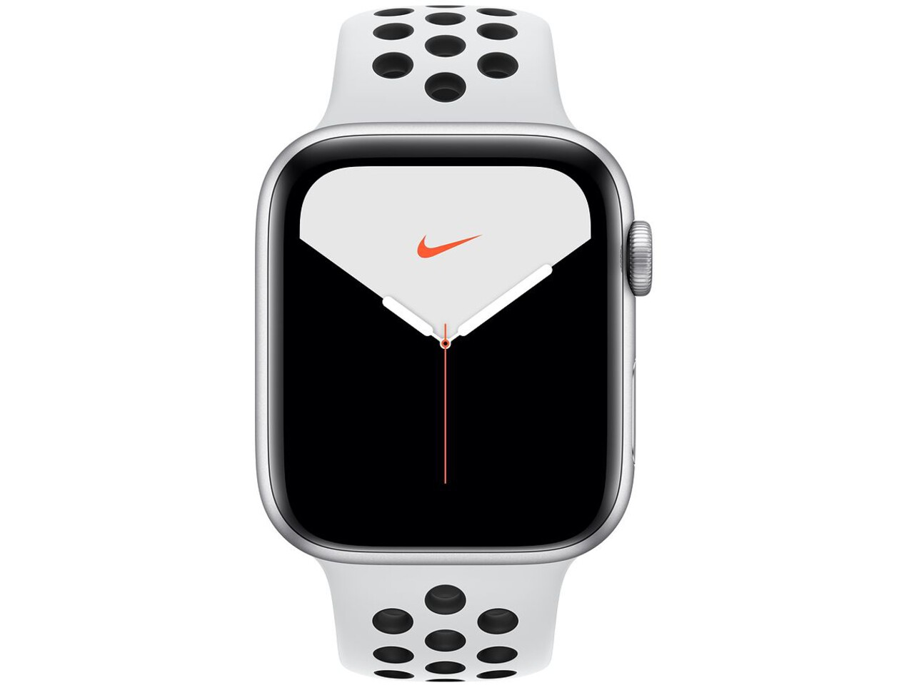 apple watch nike series 5 cellular 44mm silver aluminum pure platinumblack sport band