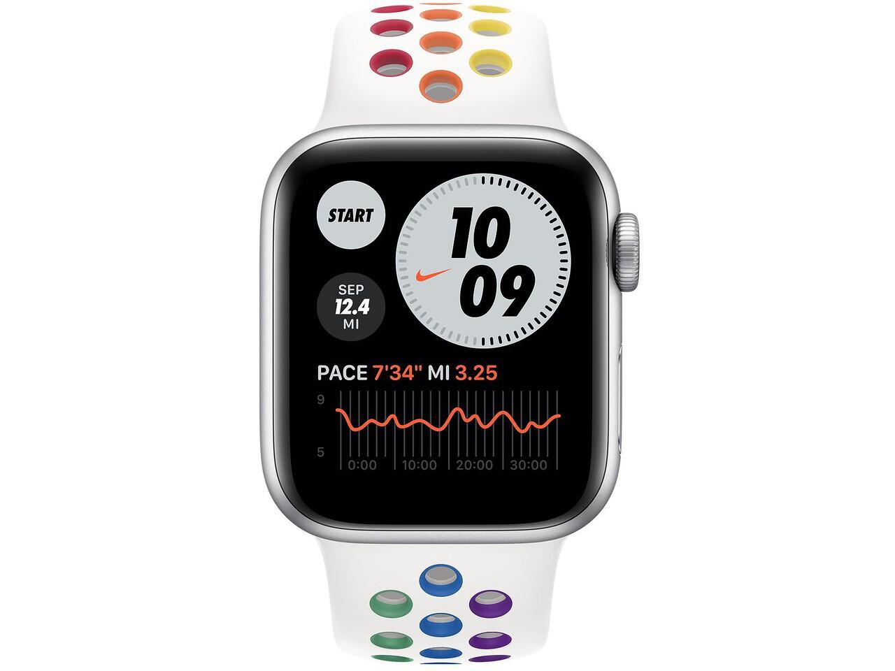 apple watch nike series 6 40mm silver aluminum pride nike sport band