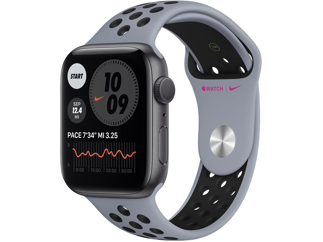 apple watch nike series 6 40mm space gray aluminum anthraciteblack nike sport band