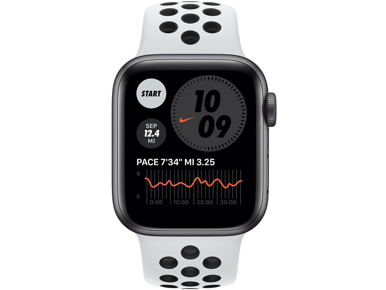 apple watch nike series 6 40mm space gray aluminum pure platinumblack nike sport band
