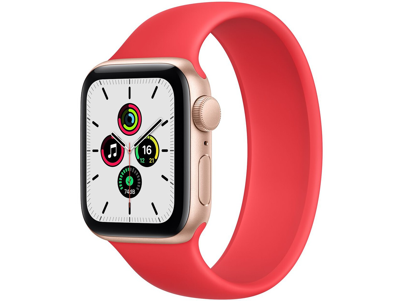 apple watch se 40mm gold aluminum red solo loop