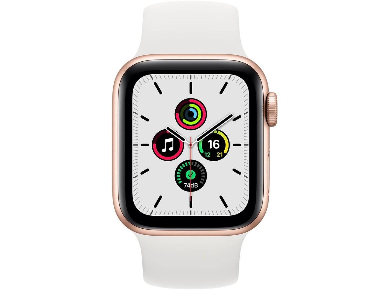apple watch se 40mm gold aluminum white solo loop