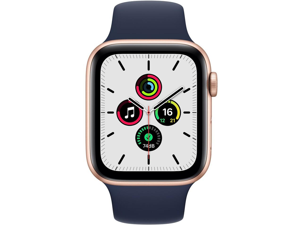 apple watch se 44mm gold aluminum pink sand sport band