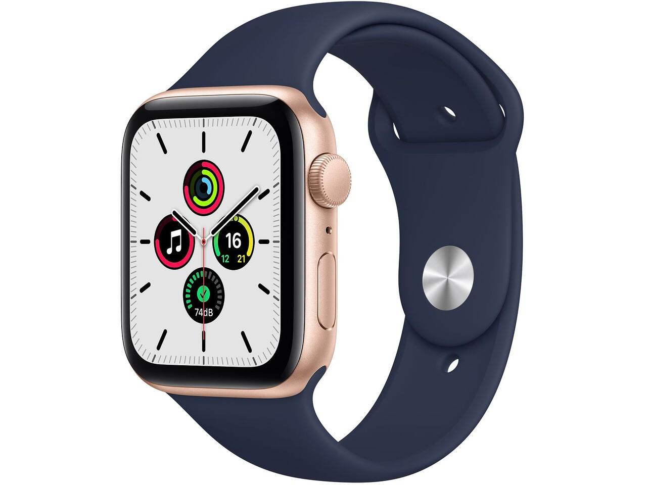 apple watch se cellular 40mm gold aluminum pink sand sport band