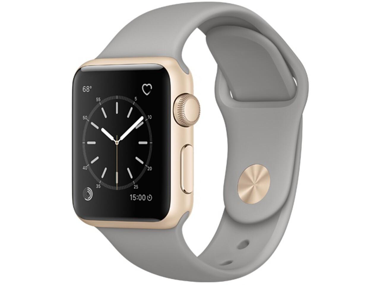 apple watch series 1 38mm gold aluminum concrete sport band