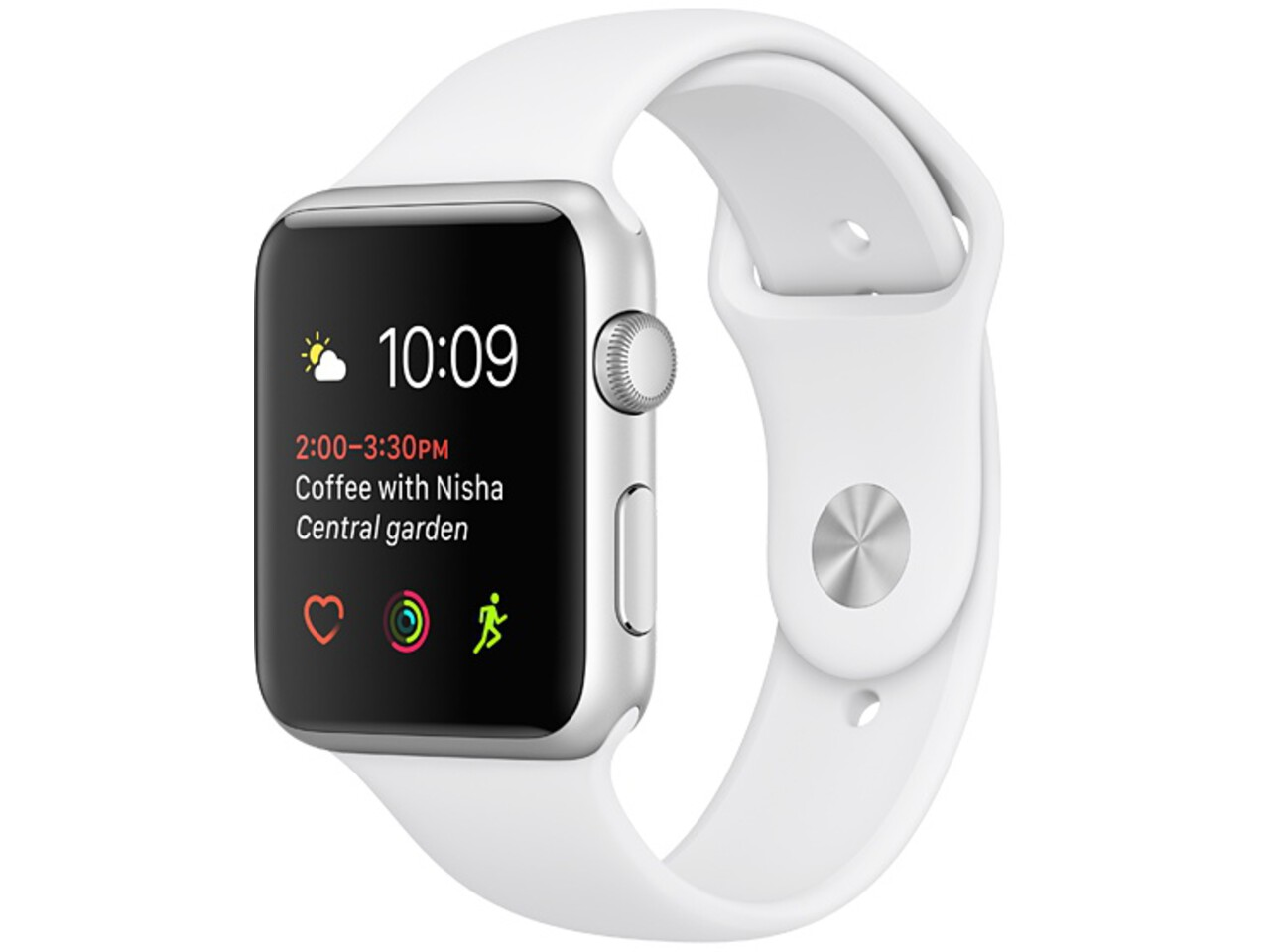 apple watch series 1 38mm silver aluminum white sport band