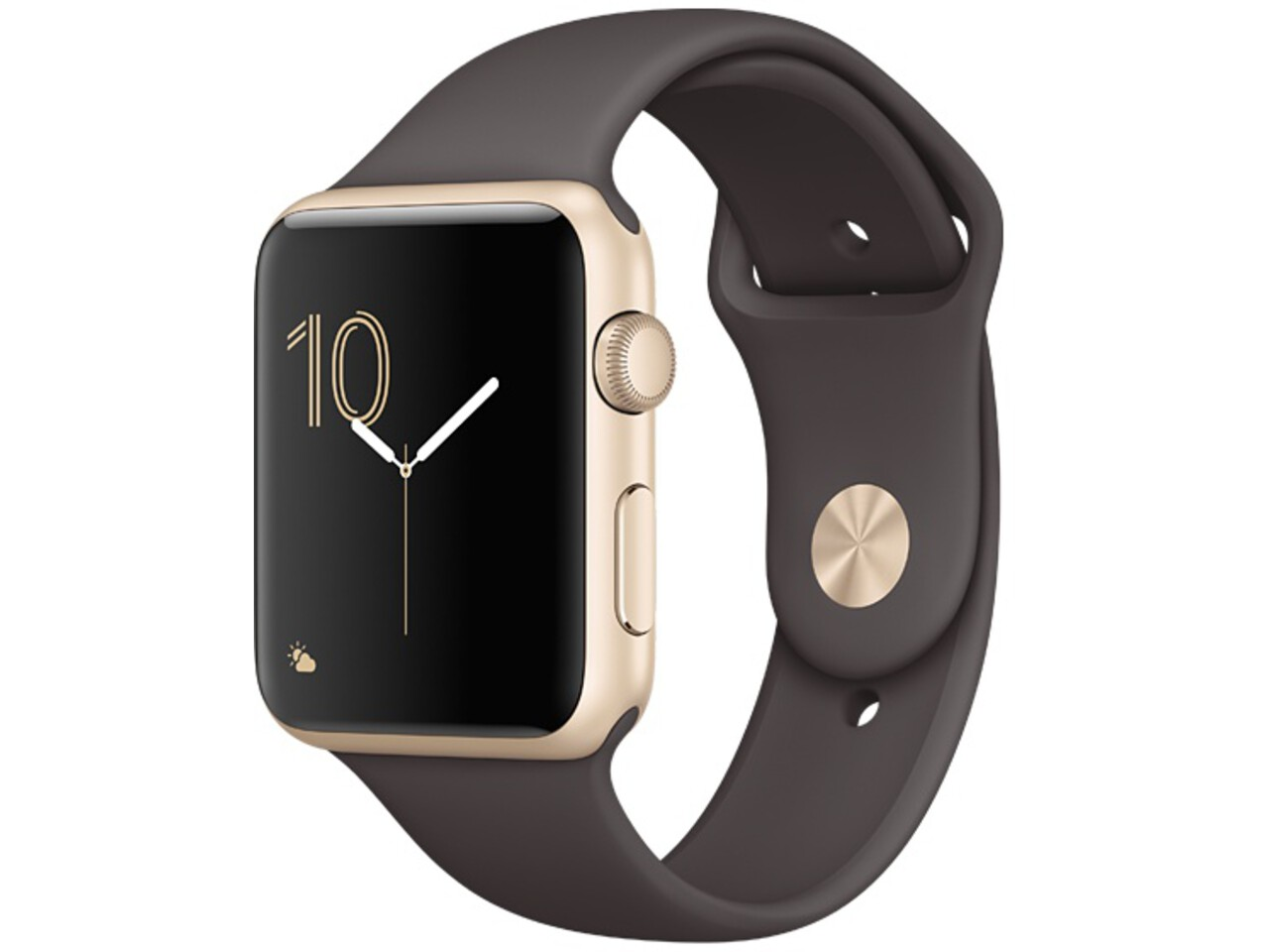 apple watch series 1 42mm gold aluminum cocoa sport band