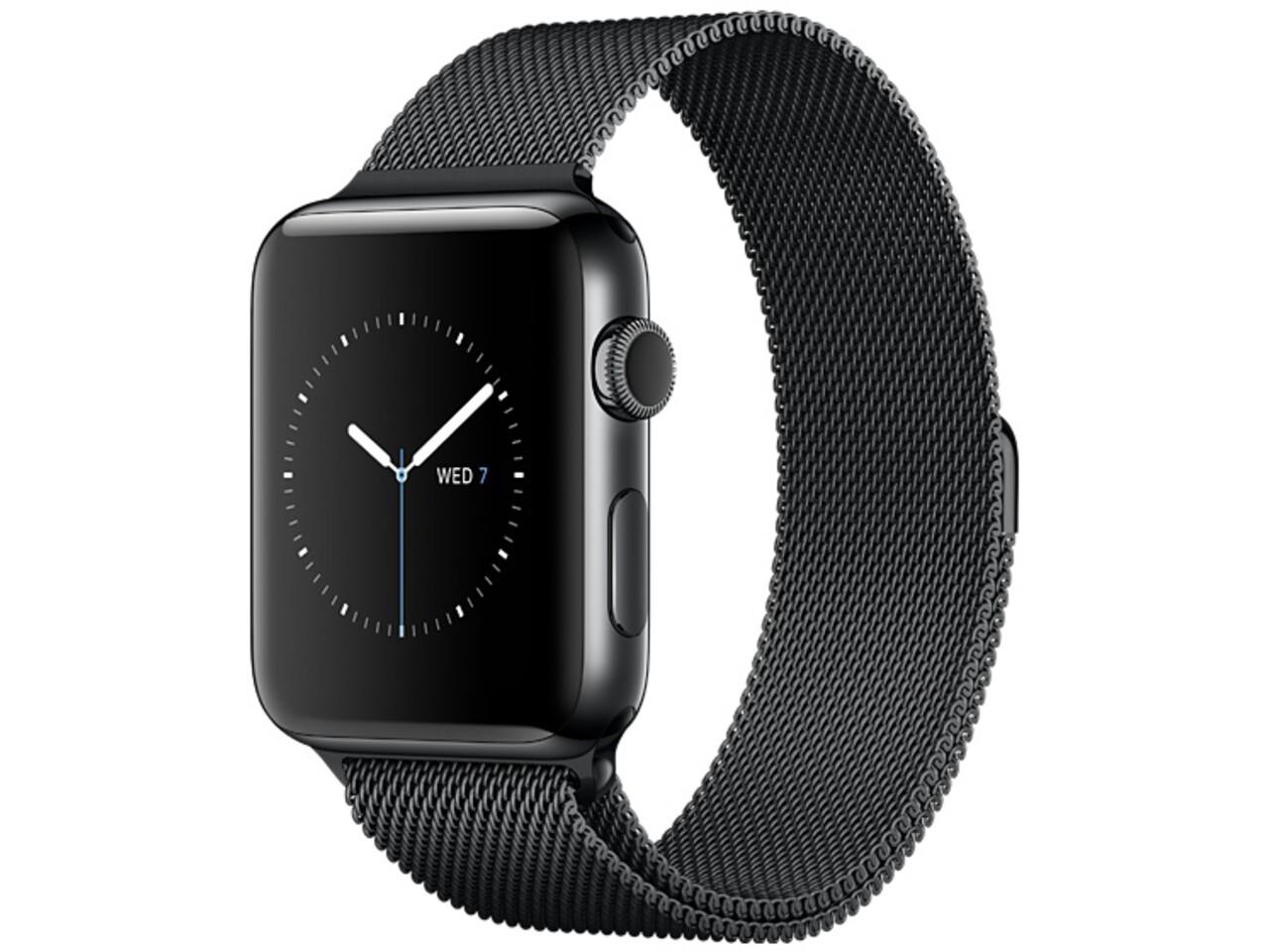 apple watch series 2 38mm space black stainless steel space black milanese loop