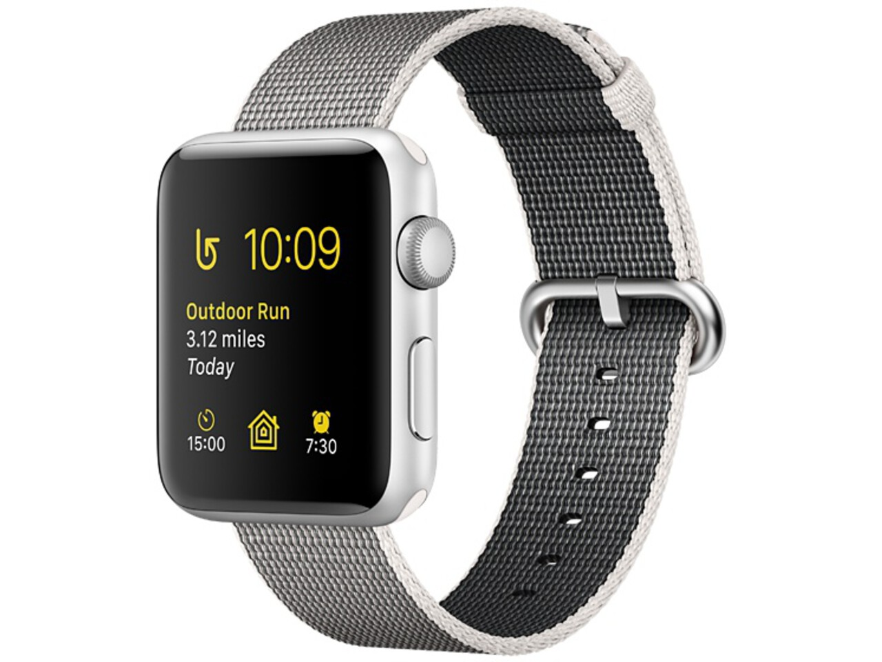 apple watch series 2 42mm silver aluminum pearl woven nylon band