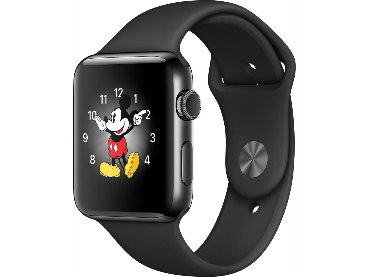apple watch series 2 42mm space black stainless steel space black sport band