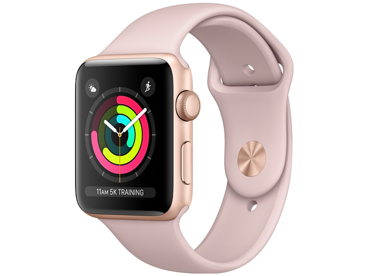 apple watch series 3 38mm gold aluminum pink sport band