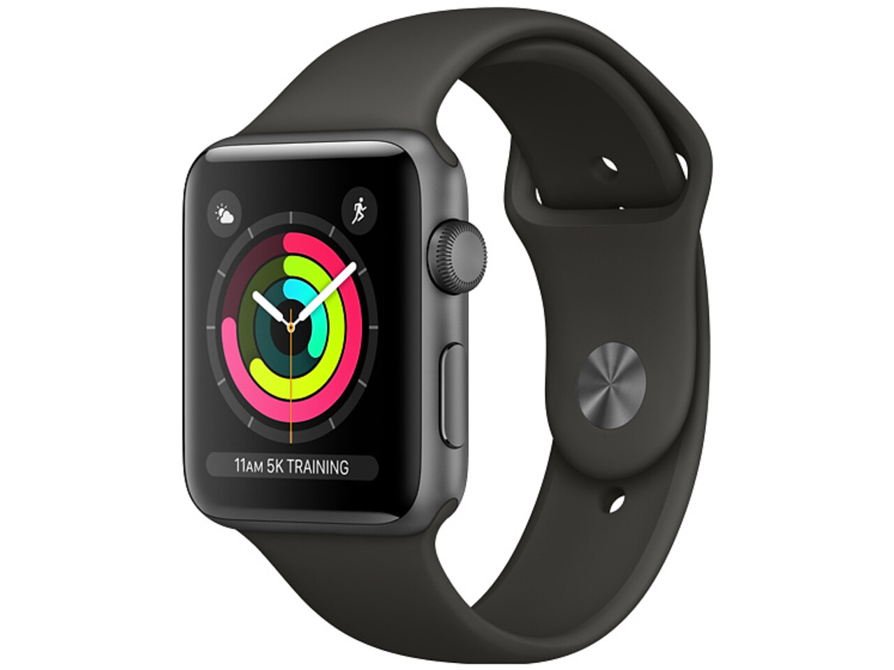 apple watch series 3 38mm space gray aluminum gray sport band