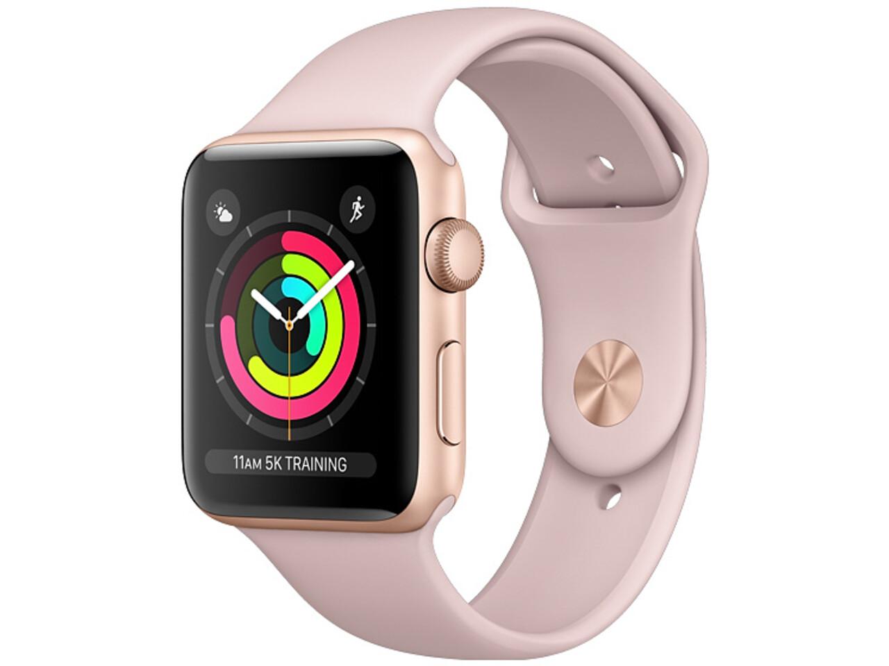 apple watch series 3 42mm gold aluminum pink sport band