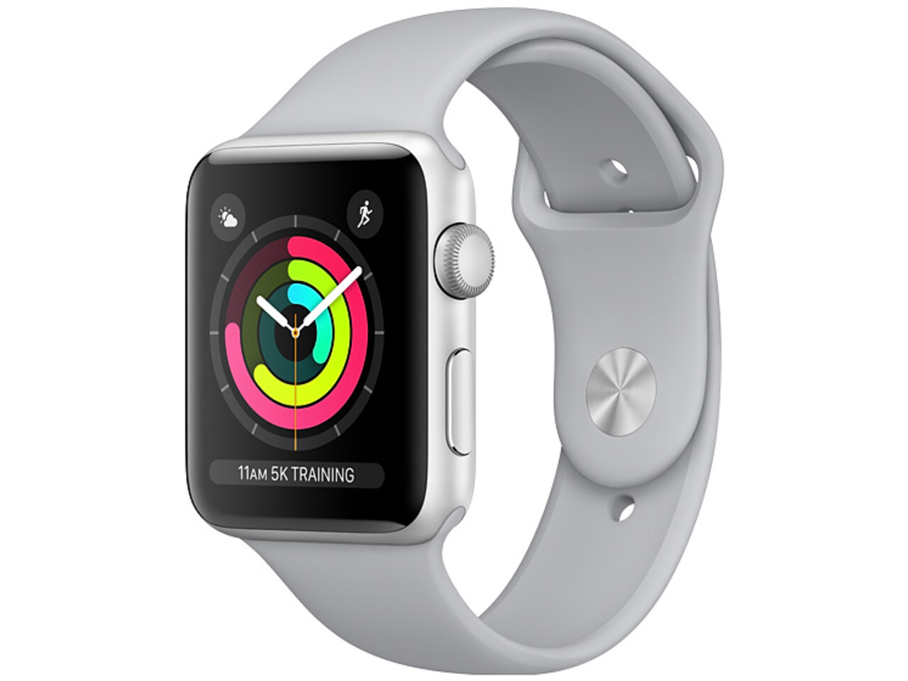 apple watch series 3 42mm silver aluminum gray sport band