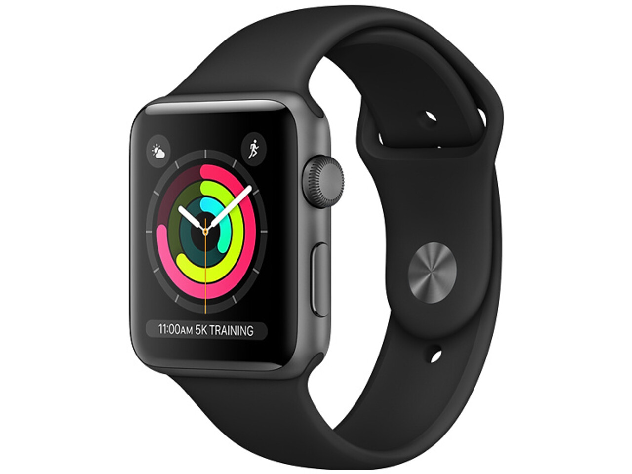 apple watch series 3 42mm space gray aluminum black sport band