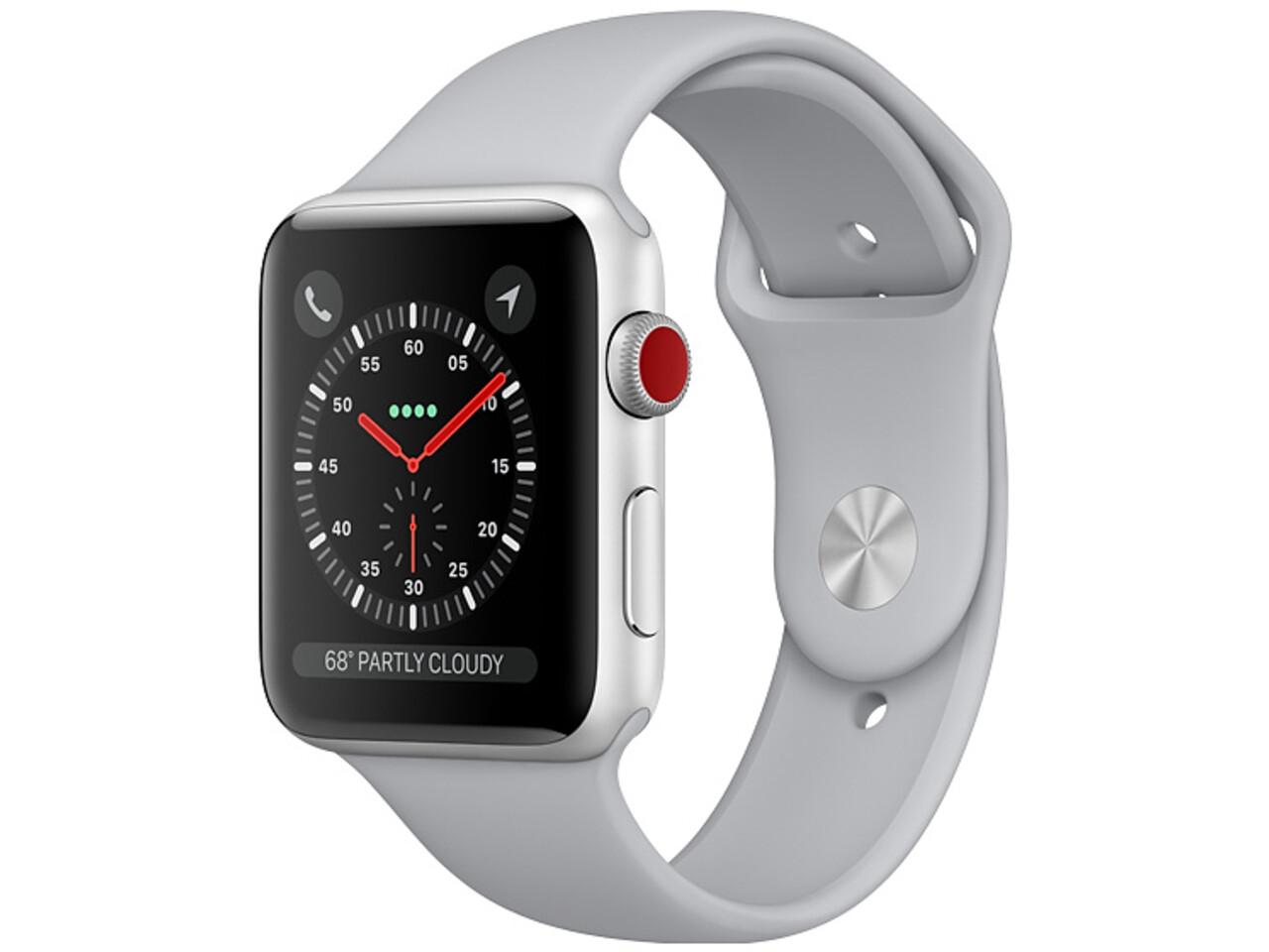 apple watch series 3 cellular 38mm silver aluminum gray sport band