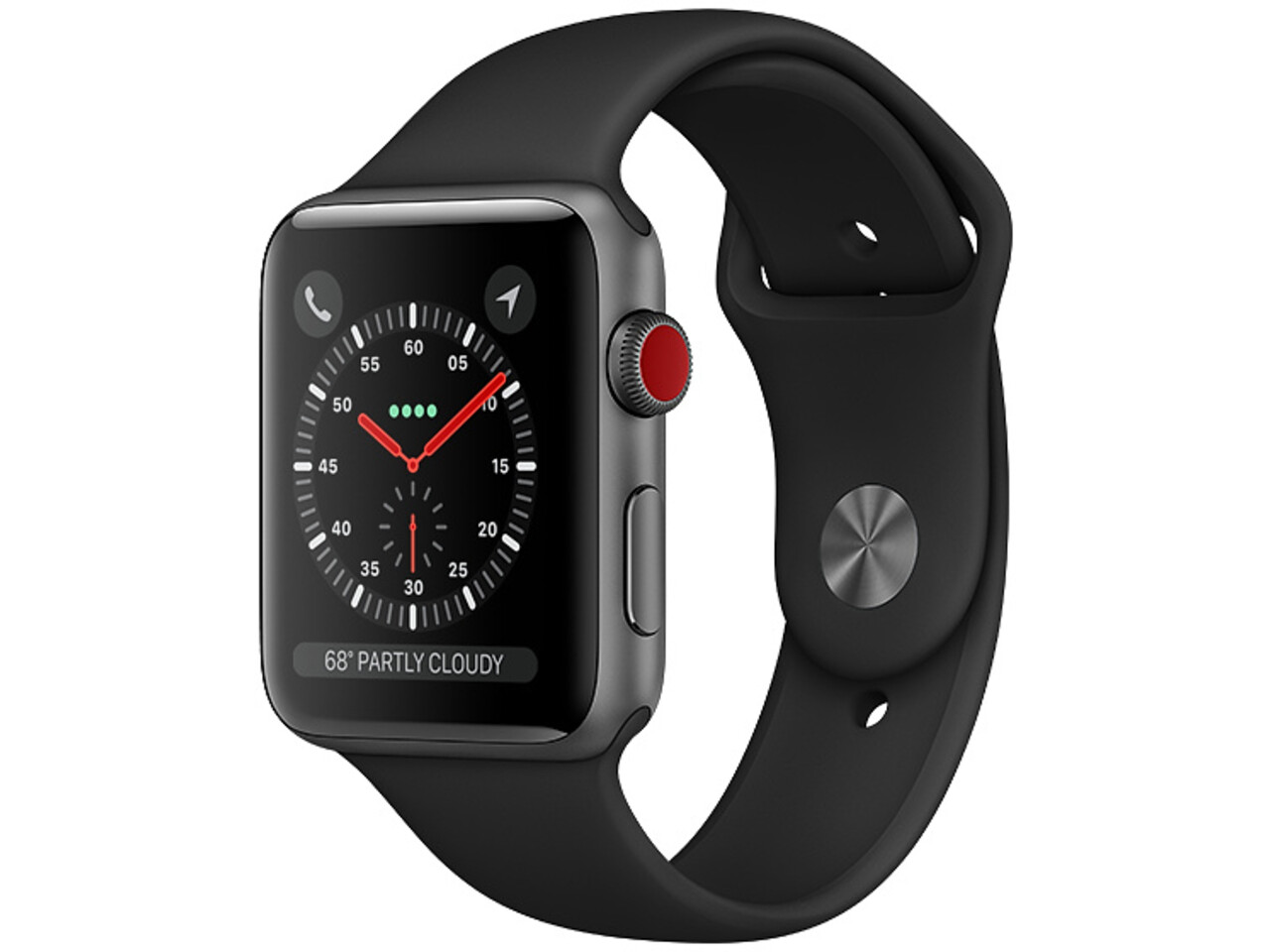 apple watch series 3 cellular 38mm space gray aluminum black sport band