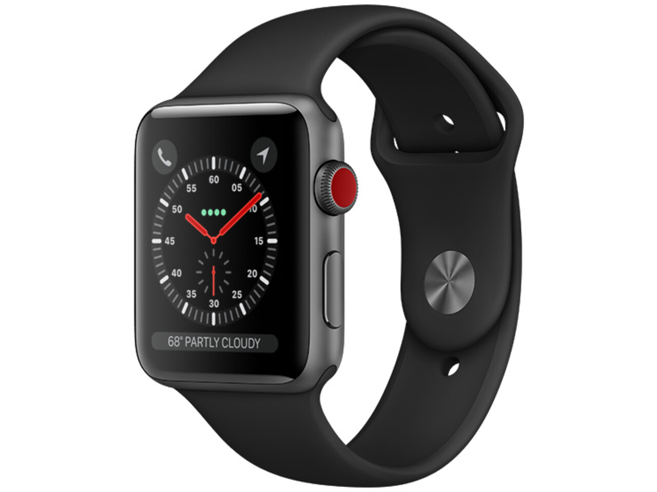 apple watch series 3 cellular 42mm space gray aluminum black sport band