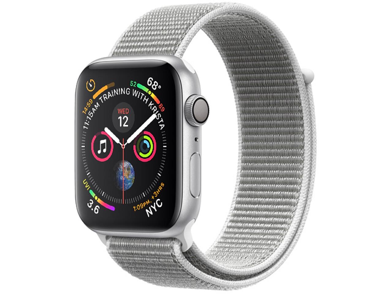 apple watch series 4 40mm silver aluminum seashell sport loop