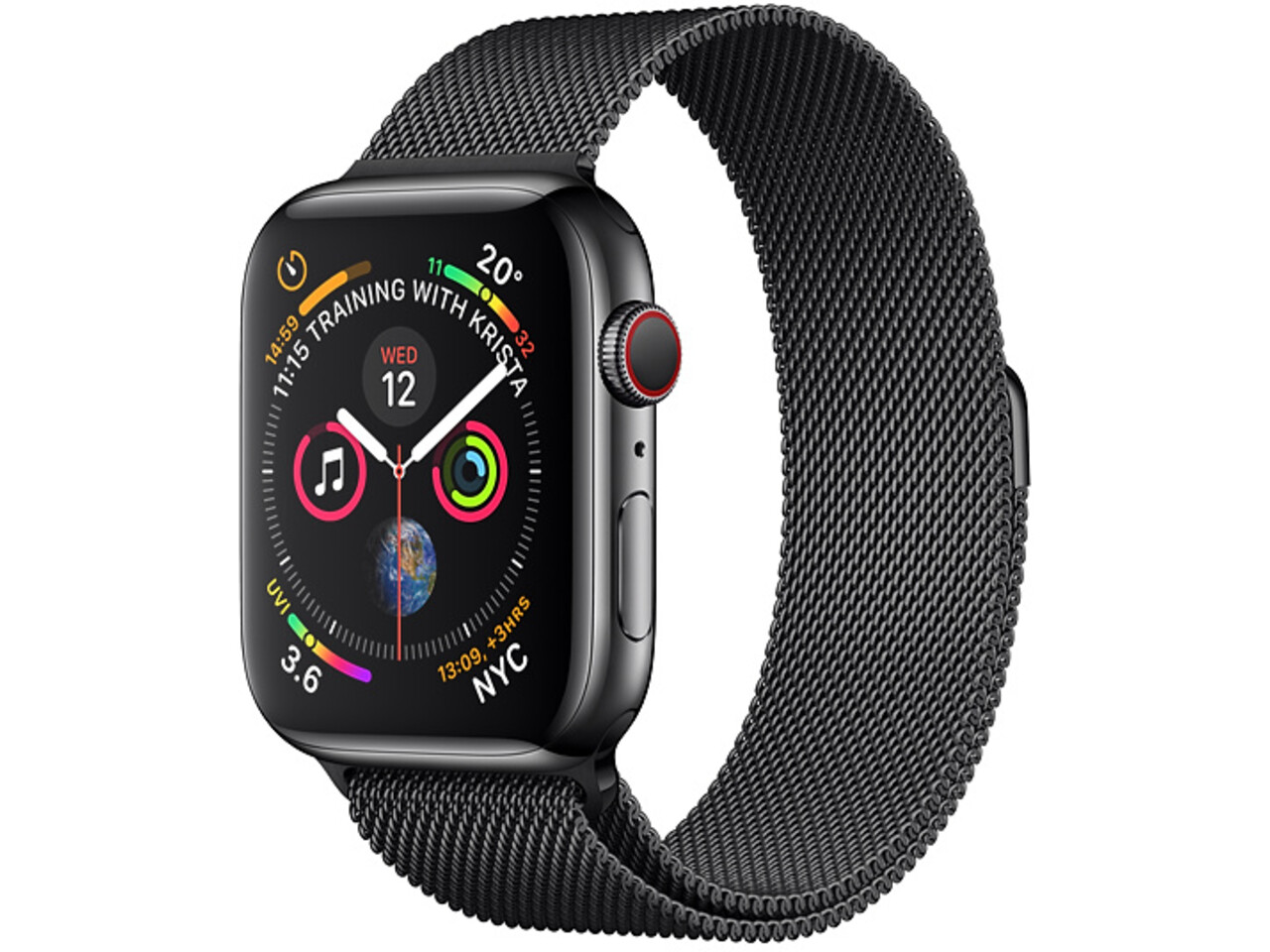 apple watch series 4 cellular 44mm space black stainless steel space black stainless steel