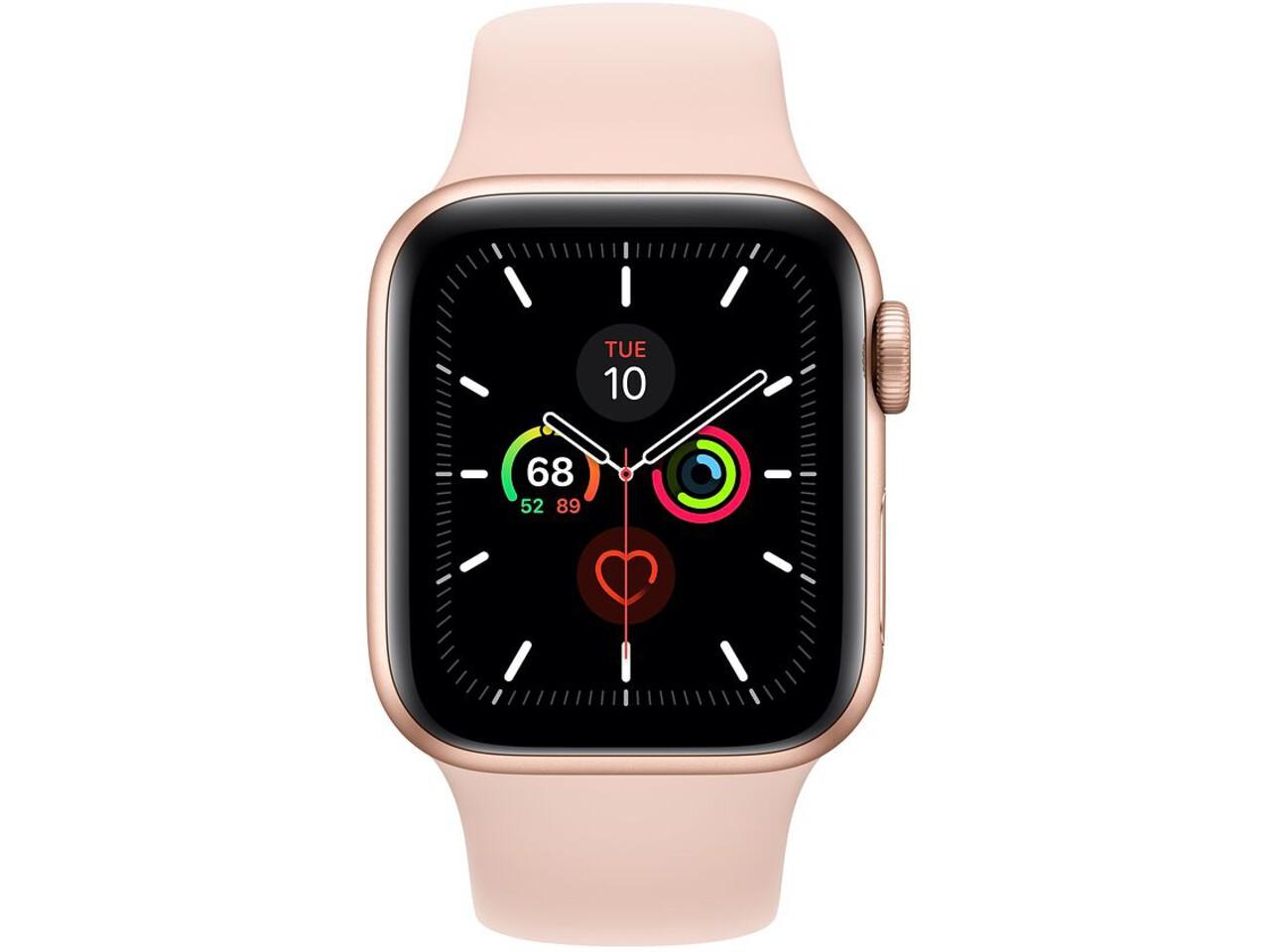 apple watch series 5 40mm gold aluminum pink sand sport band