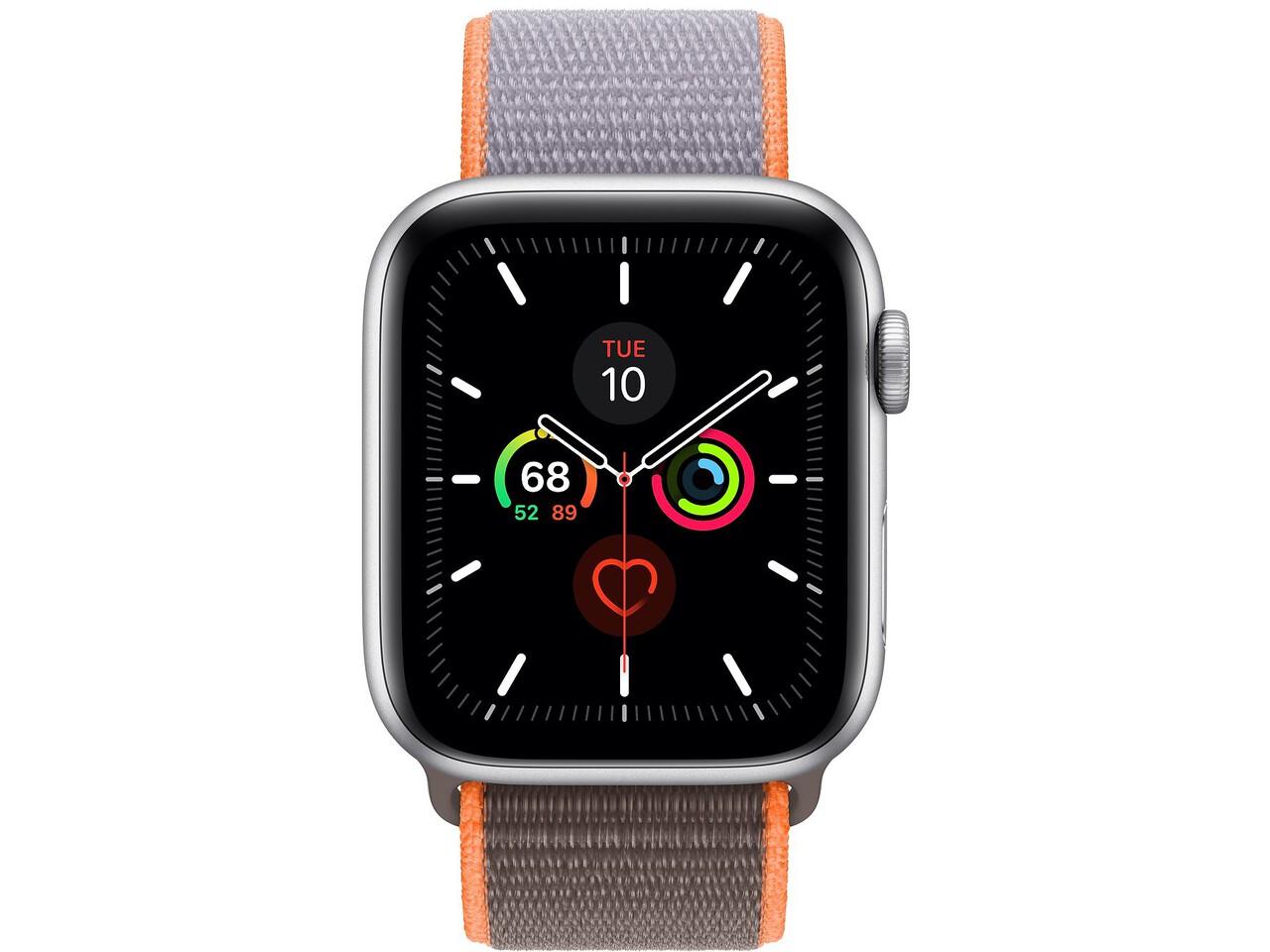 apple watch series 5 44mm silver aluminum vitamin c sport loop
