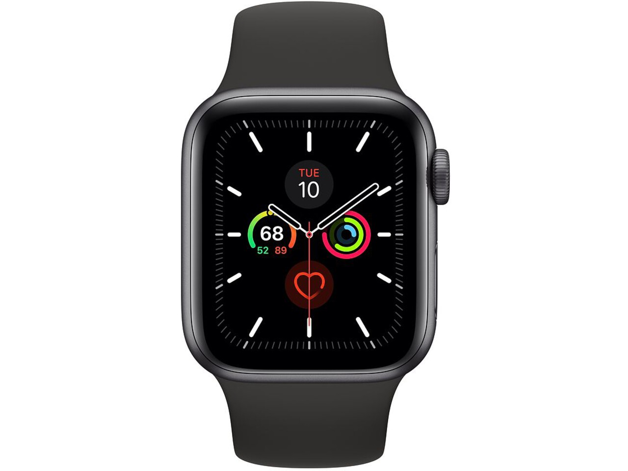 apple watch series 5 cellular 40mm space gray aluminum black sport band
