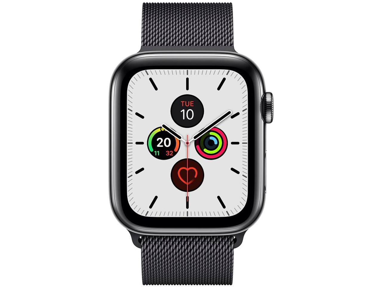 apple watch series 5 cellular 44mm space black stainless steel space black stainless steel