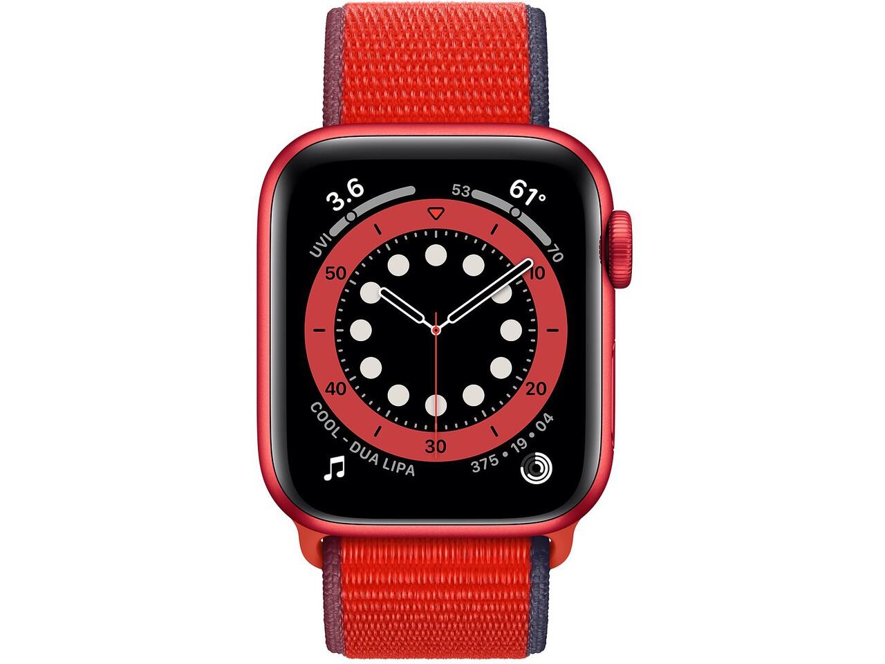 apple watch series 6 40mm red aluminum red sport loop