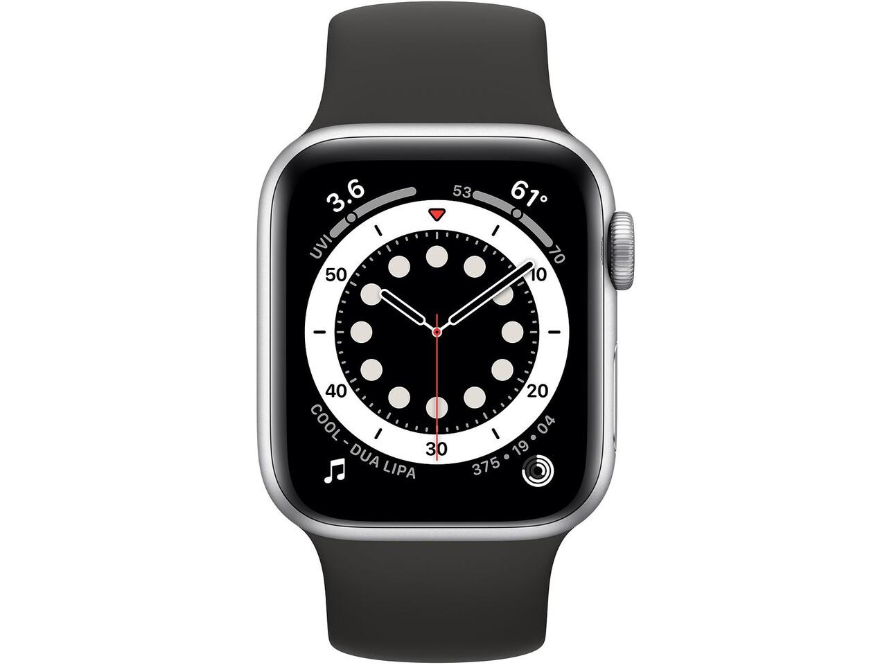 apple watch series 6 40mm silver aluminum black solo loop