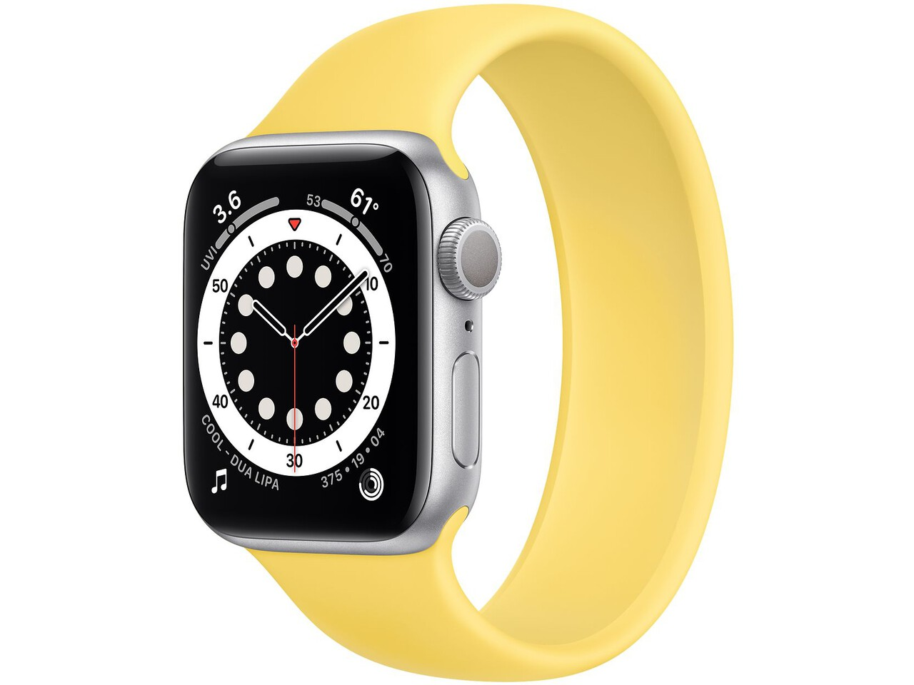 apple watch series 6 40mm silver aluminum ginger solo loop