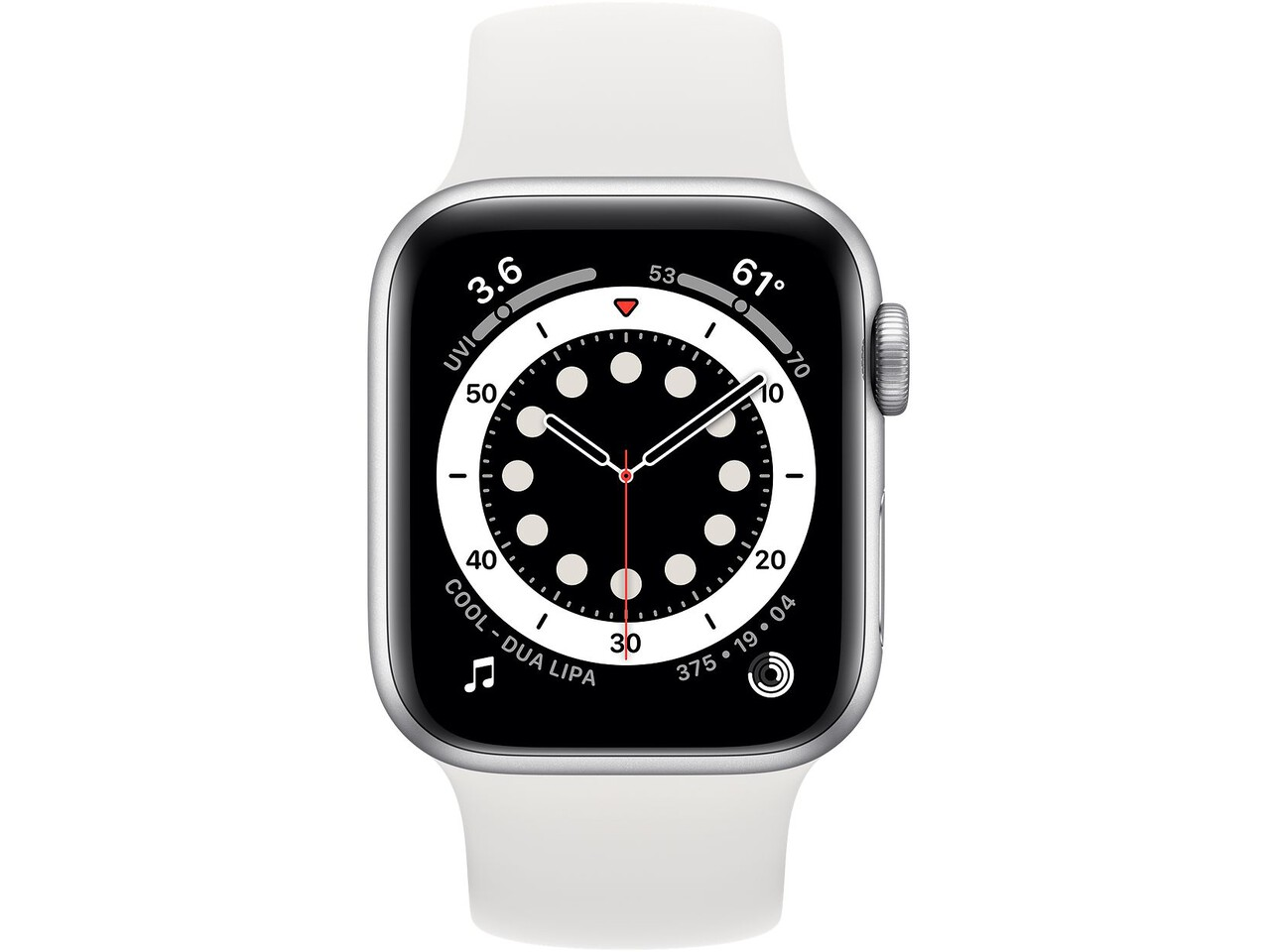 apple watch series 6 40mm silver aluminum white solo loop
